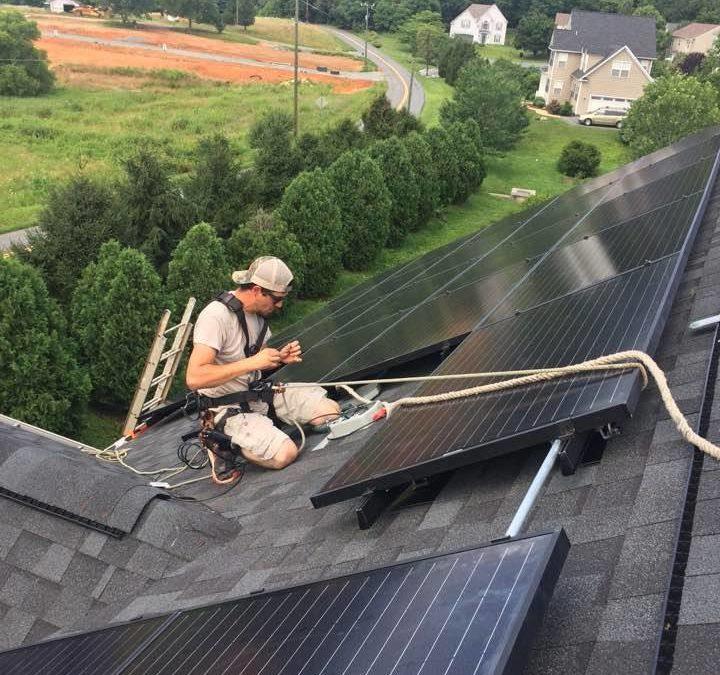 Virginia solar installation