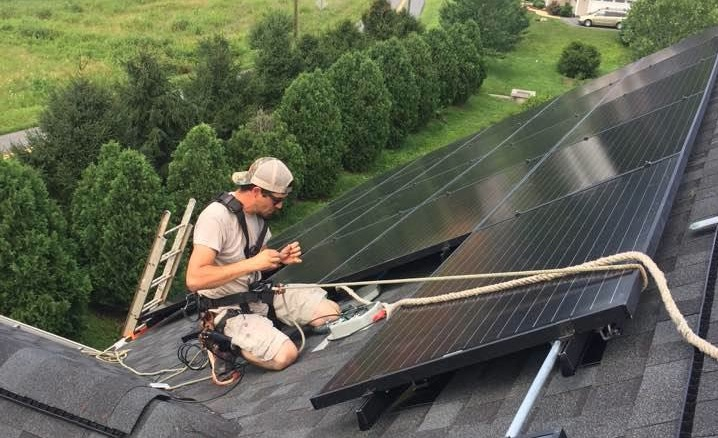 Virginia solar installation