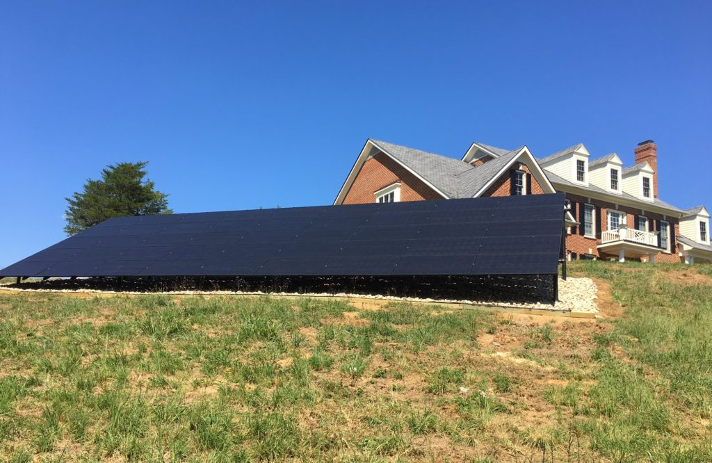Skalak residential solar ground mount Crozet, VA
